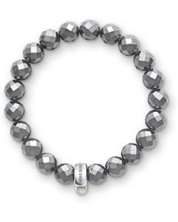 Thomas Sabo - Charm Club Hematite Stone Bracelet - Lyst