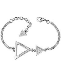 Guess - Iconic 3angles Ubb83063-l Bracelet - Lyst
