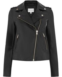 Warehouse - Leather Biker Jacket - Lyst