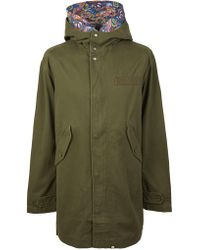 Pretty Green - Cotton Zip Up Hooded Parka - Lyst