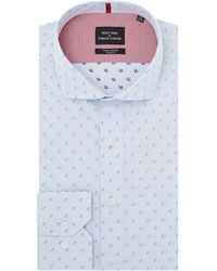 Simon Carter | Men's Dobby Graph Check Shirt | Lyst
