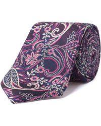 Alexandre Of England - Bighton Navy Pink Paisley Tie - Lyst