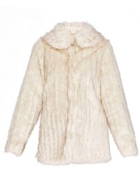 Ted Baker - Olleen Winter Faux Fur Collared Coat - Lyst