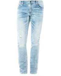 Antony Morato - Men's Denim Trousers With Patch And Embroidery Detail - Lyst