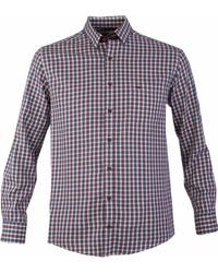Double Two - Men's Checked Button Down Collar Casual Shirt - Lyst