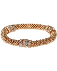Mikey - Metal Chain Crystal Cylinder Bracelet - Lyst