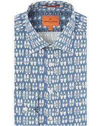 Simon Carter | Shoe Print Shirt | Lyst