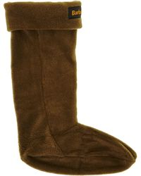 Barbour - Fleece Wellington Logo Sock - Lyst