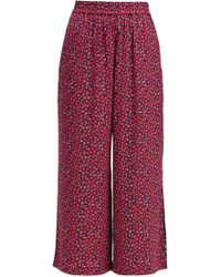 French Connection - Aubine Drape Printed Trousers - Lyst
