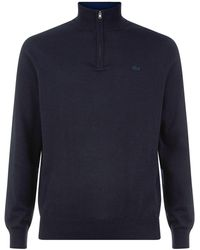 Lacoste - Men's Half Zip High Collar Sweater - Lyst