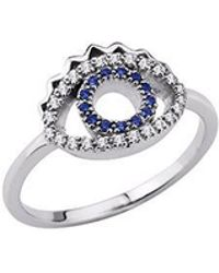 KENZO - 24134110205 Sterling Silver & Cz Ring - Lyst