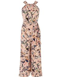 Karen Millen - Floral Wide-leg Jumpsuit - Lyst