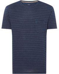 Howick - Men's Indgo Crew Neck T-shirt - Lyst
