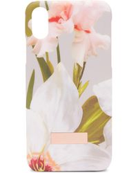 Ted Baker - Sid Chatsworth Bloom Iphone X Clip Case - Lyst