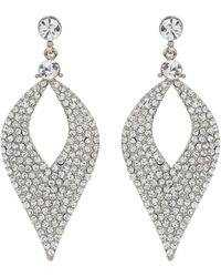 Mikey - Eclipse Design Crystal Studded Earring - Lyst