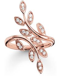 Thomas Sabo - Fairy Twines Rose Gold Leaf Ring - Lyst