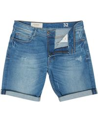 Criminal - Men's Bleached Denim Shorts - Lyst