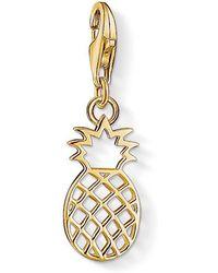 Thomas Sabo - Charm Club Gold Pineapple Charm - Lyst