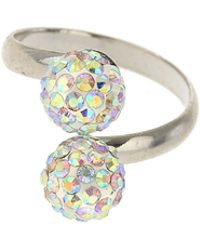 Mikey - Twin Crystal Ring - Lyst