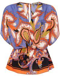 Biba - Paisley Print Kimono Blouse - Lyst
