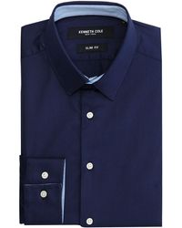 Kenneth Cole - Daven Slim Fit Shirt With Contrast Detail - Lyst