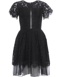 French Connection - Shana Spotlight Flared Lace Dress - Lyst