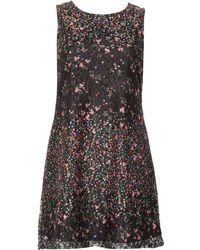 Izabel London - Floral Printed Lace Shift Dress - Lyst