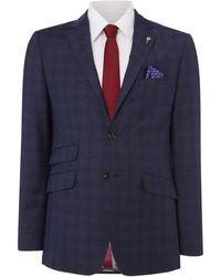 Ted Baker - Pidgin Brushed Check Suit Jacket - Lyst