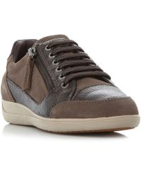 Geox - Myria Suede & Lea Trainers - Lyst
