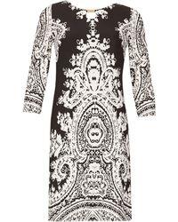 Izabel London - 34 Sleeve Monochrome Print Dress - Lyst