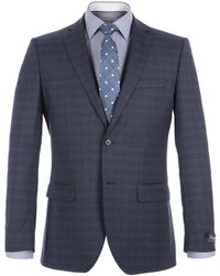 Alexandre Of England - Goldborne Blue Check Suit - Lyst