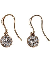 Pilgrim | Rose Gold Colour With Crystals Earrings | Lyst