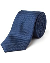 Paul Costelloe - Savile Skinny Textured Silk Tie - Lyst