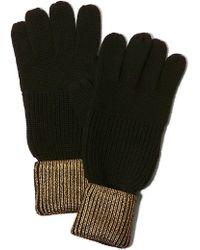 Karen Millen - Metallic Knitted Gloves - Lyst