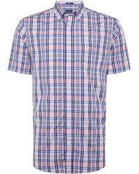 GANT - Men's Windowpane Spring Checked Shirt - Lyst