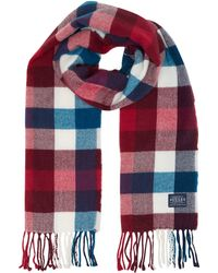 Joules - Bracken Checked Long Scarf - Lyst