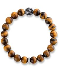 Thomas Sabo - Rebel At Heart Mala Tiger`s Eye Bracelet - Lyst