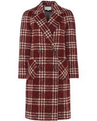 Dickins & Jones - Red Checked Double Breasted Coat - Lyst