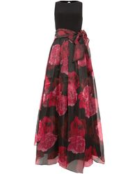 Eliza J - Jersey Top Ballgown With Organza Skirt - Lyst