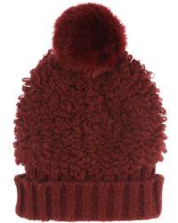 Jane Norman - Cherry Red Bobble Hat - Lyst