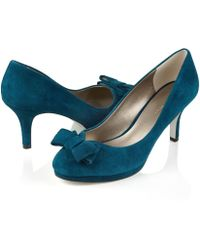 Jacques Vert - Suede Slip-on Court Shoes - Lyst