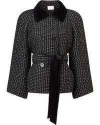 Jacques Vert - Textured Velvet Collar Jacket - Lyst