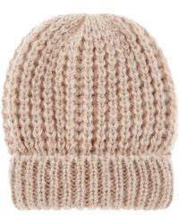 Accessorize | Pretty Metallic Turnup Beanie Hat | Lyst