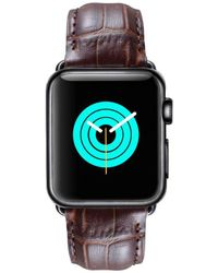 Mintapple - Alligator Strap For Black Apple Watch - Lyst
