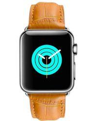 Mintapple - Alligator Strap For Silver Apple Watch - Lyst