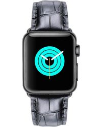 Mintapple - Alligator Strap For Grey Apple Watch - Lyst