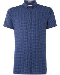 Jack & Jones - Check Short-sleeve Cotton Shirt - Lyst