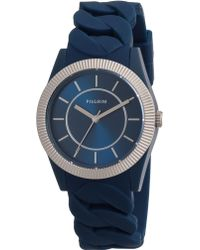 Pilgrim - Incredibly Blue Colour Watch With Silver - Lyst