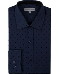 Alexandre Of England - Men's Coles Navy Flocked Shirt - Lyst