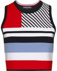 Tommy Hilfiger - Pilaux Graphic Stripe Crop Top - Lyst